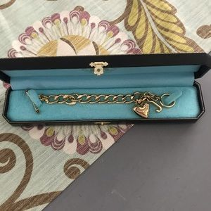 Juicy Couture GoldTone Link Heart Bracelet NEW